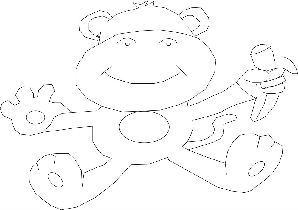 Monkey Coloring Pages Pdf : Monkey coloring printable page
