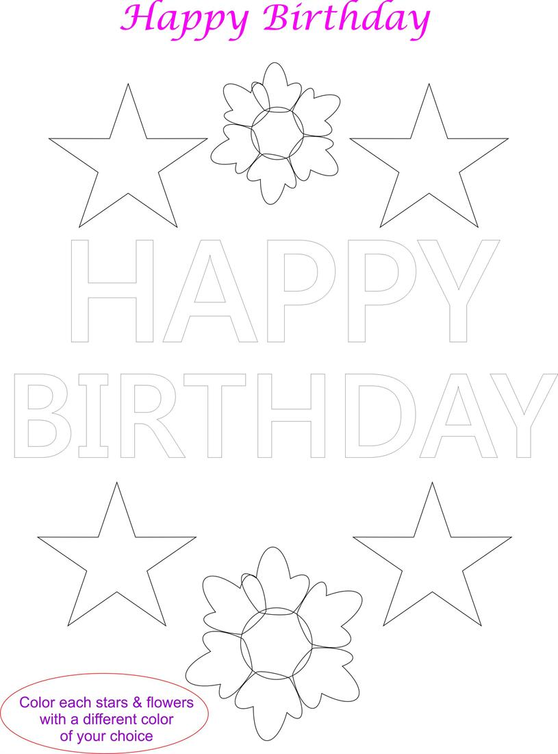 Happy Rd Birthday Coloring Page