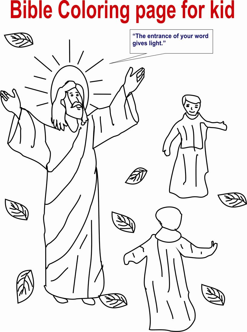 Bible coloring page for kid for Open bible coloring page