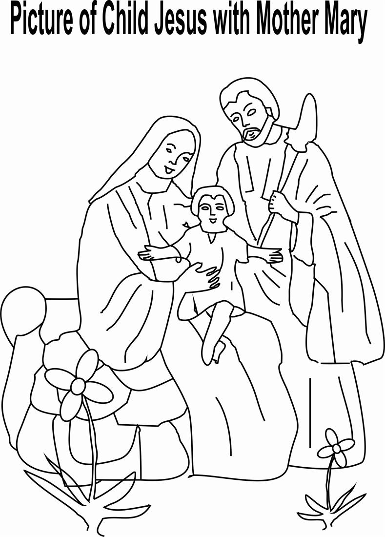 Mary Mother Of Jesus Pictures Coloring Pages