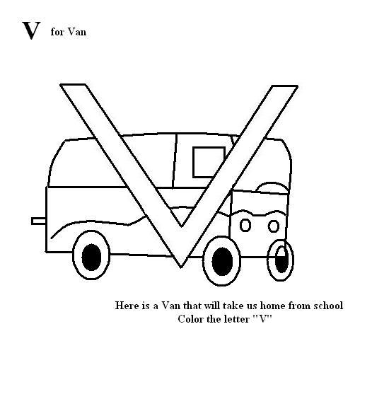 v coloring pages for kids - photo #43
