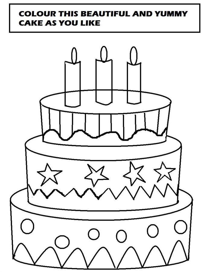 689 x 900 · 74 kB · jpeg, Birthday Cake Printable Coloring Pages