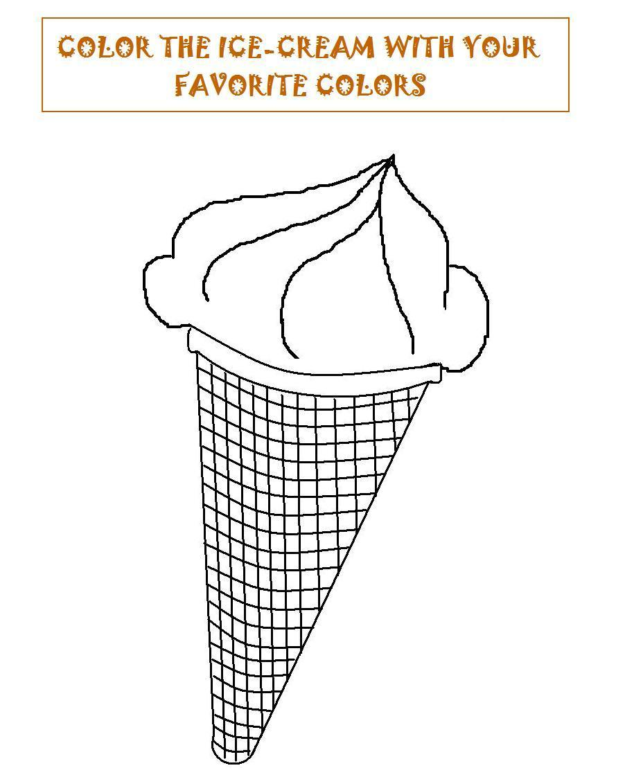 Ice Cream Coloring Pages Pdf : Ice cream coloring printable page for kids