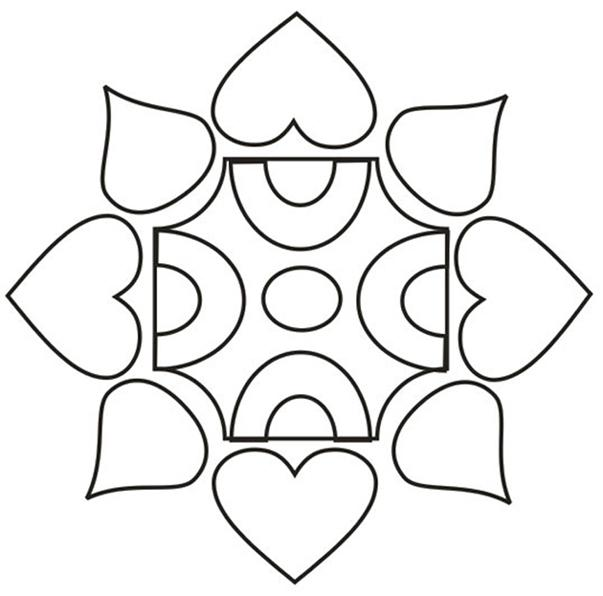 Rangoli Design Colouring Pages