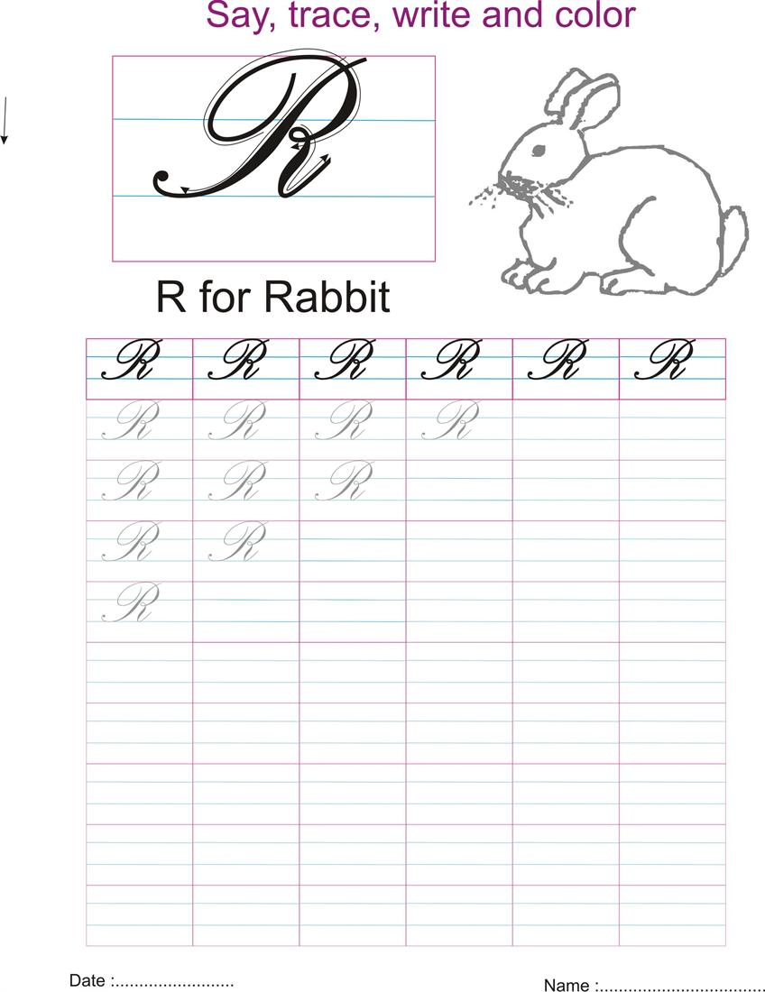 ... cursive capital letters practice worksheets open pdf file and print