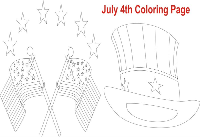 4th Of July Coloring Pages Pdf : July th printable coloring page for kid