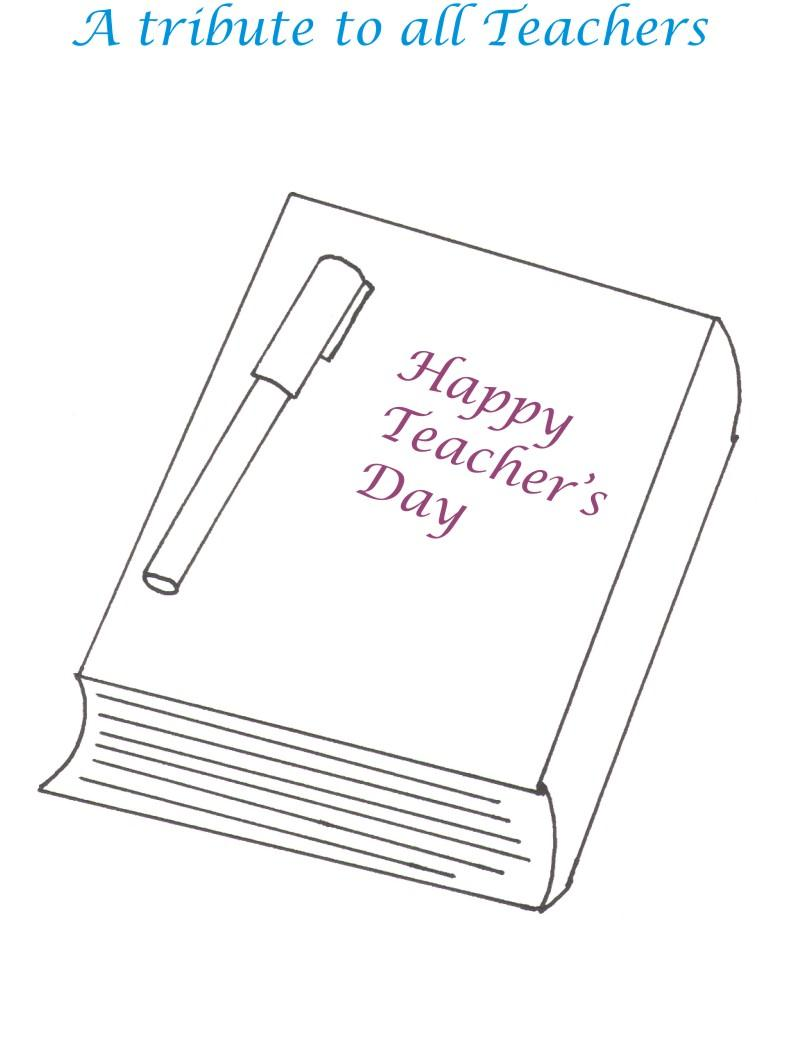 Teachers Day Printable Coloring Page For Kids 11