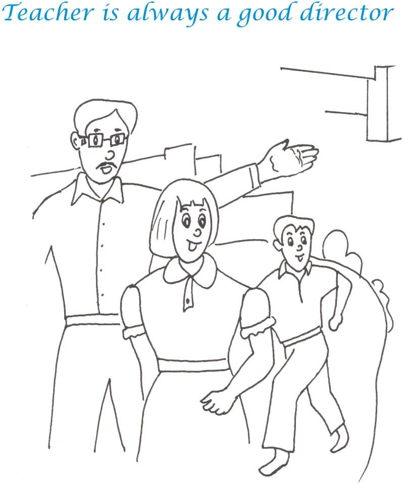 Teachers Day Printable Coloring Page For Kids 9