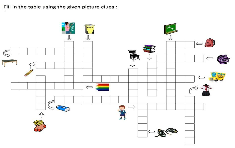 General Crossword Puzzle 1 Interesting Puzzles For Kids Picture ...