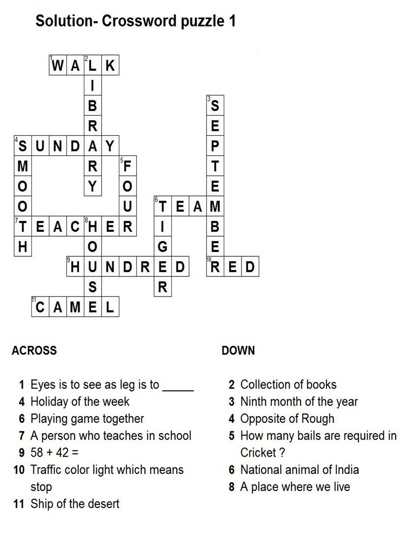 solar system crossword answers - photo #21