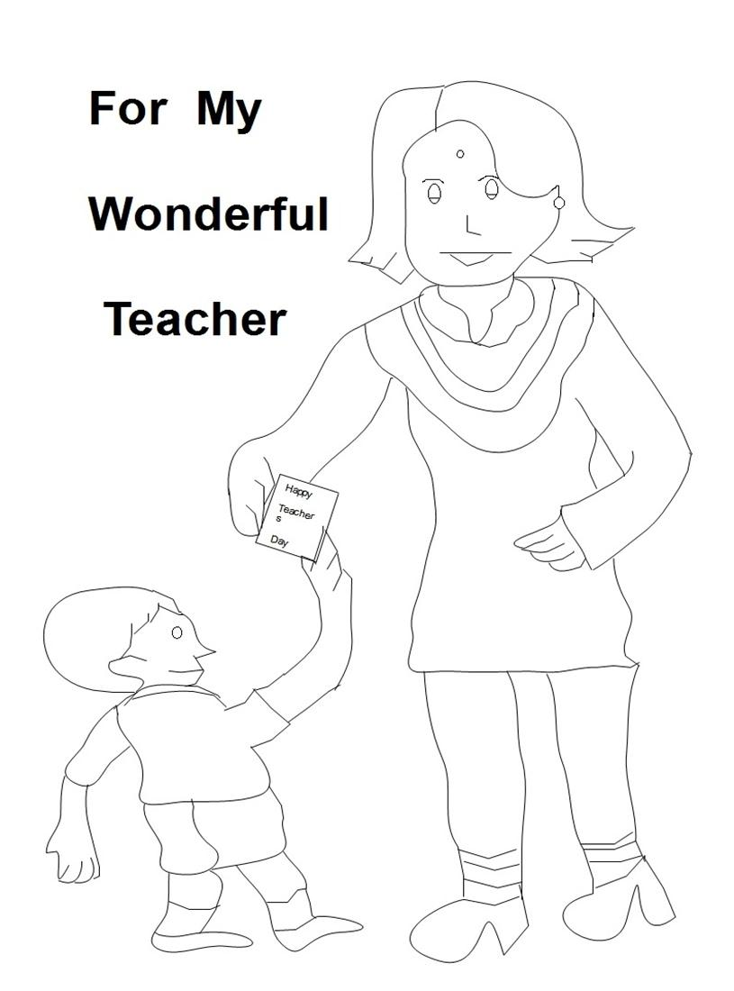 Teacher Appreciation Card Coloring Pages