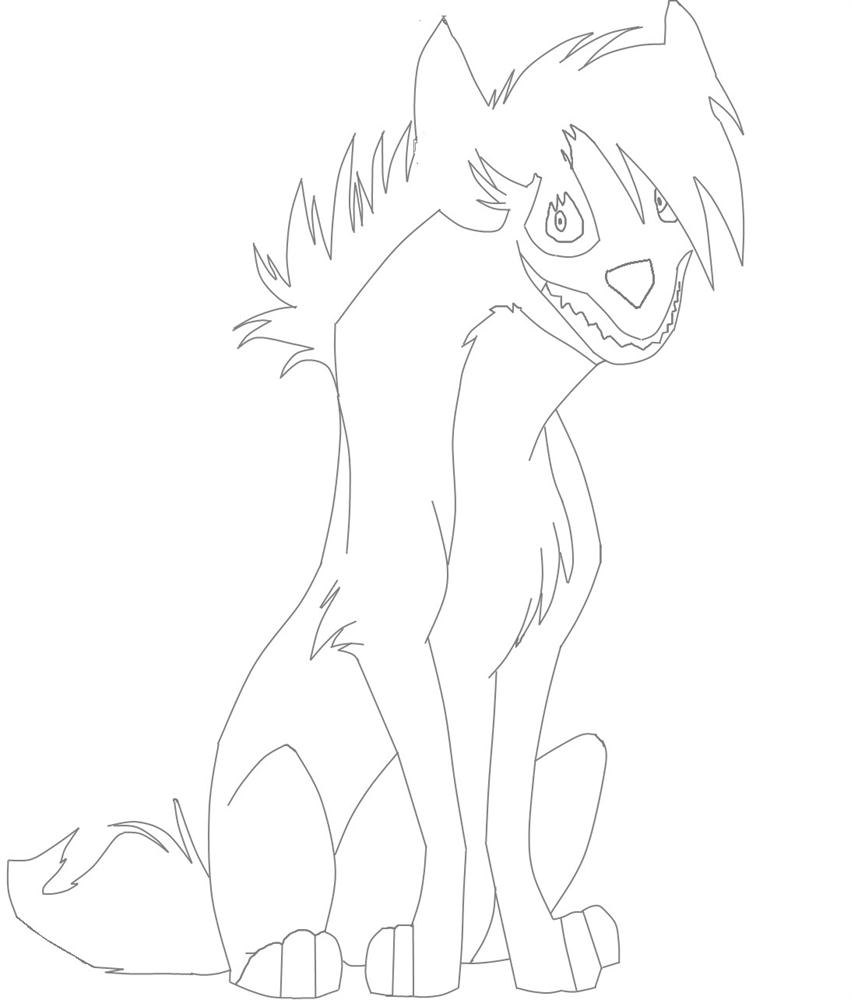 Hyenas Lion King Character Coloring Page