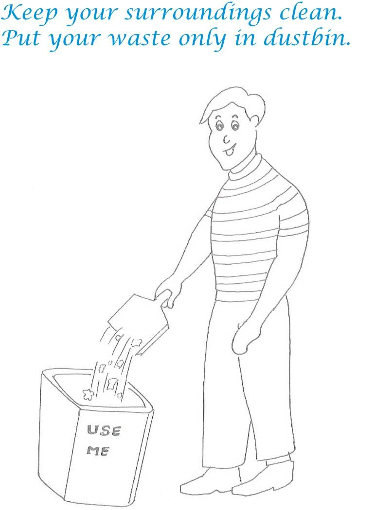 Etiquette For Kids In Home Coloring Page 6 Manners Coloring Pages 2