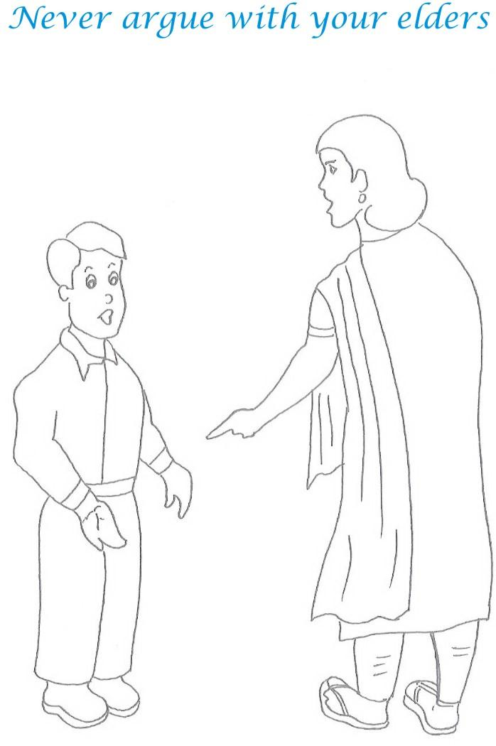 manners coloring pages for kids - photo#34
