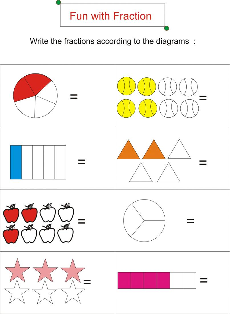 Fractions Of A Set Worksheets free printable nets to make 3d – Fun with Fractions Worksheet