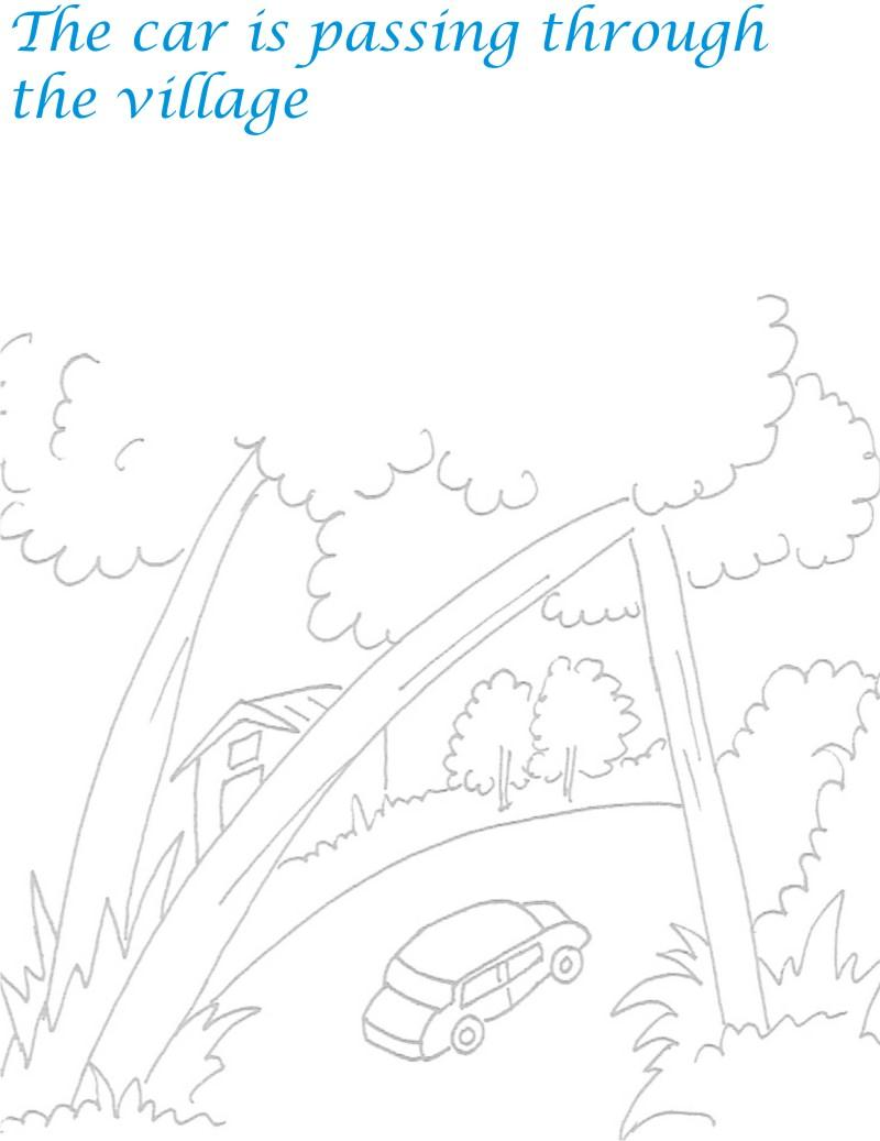coloring pages scenery - photo#12