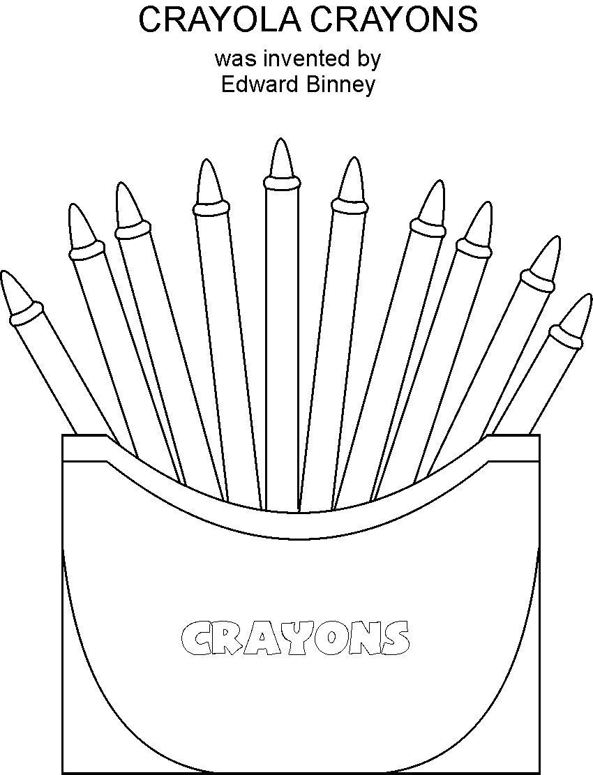 crayon coloring pages - photo#14