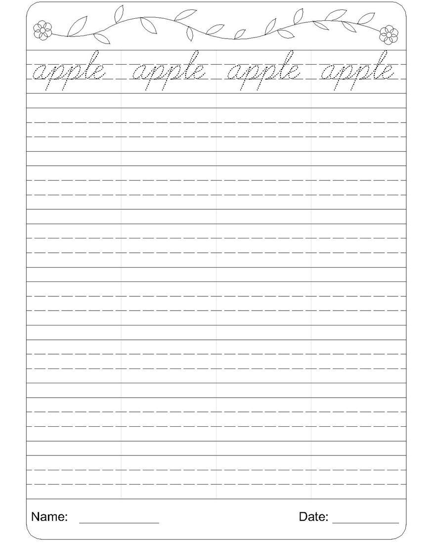 Cursive Handwriting Worksheets : English cursive handwriting worksheets pdf