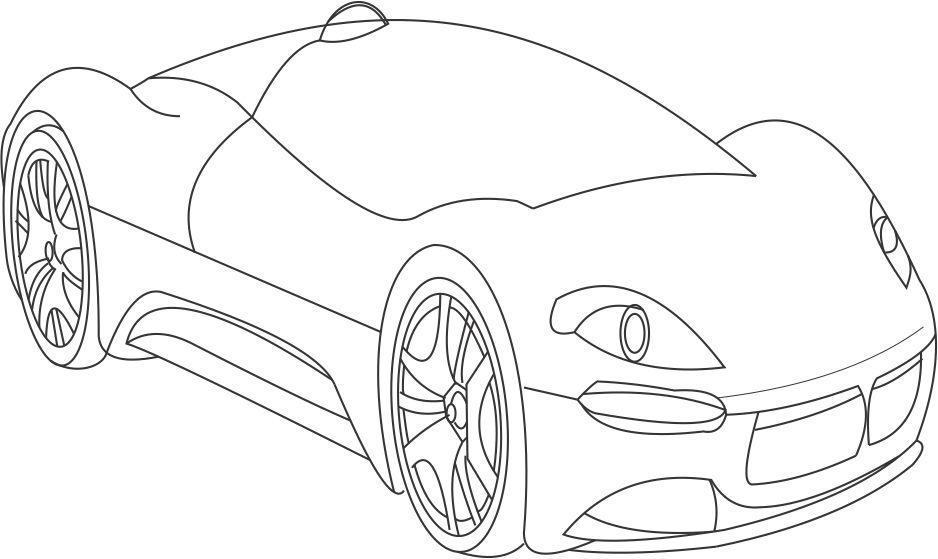 Maserati grand turismo coloring pages for Maserati coloring pages