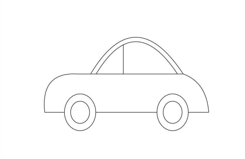 Line Drawing Of Car : How to draw a car in some simple steps