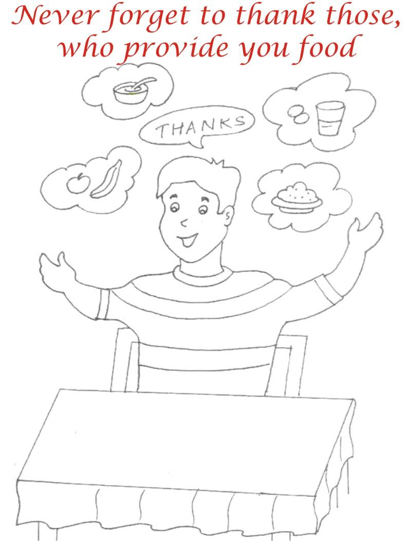kids table manners coloring pages - photo#15