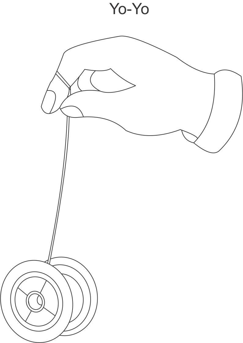 Coloring Pages Yoyo : Yo coloring printable page for kids