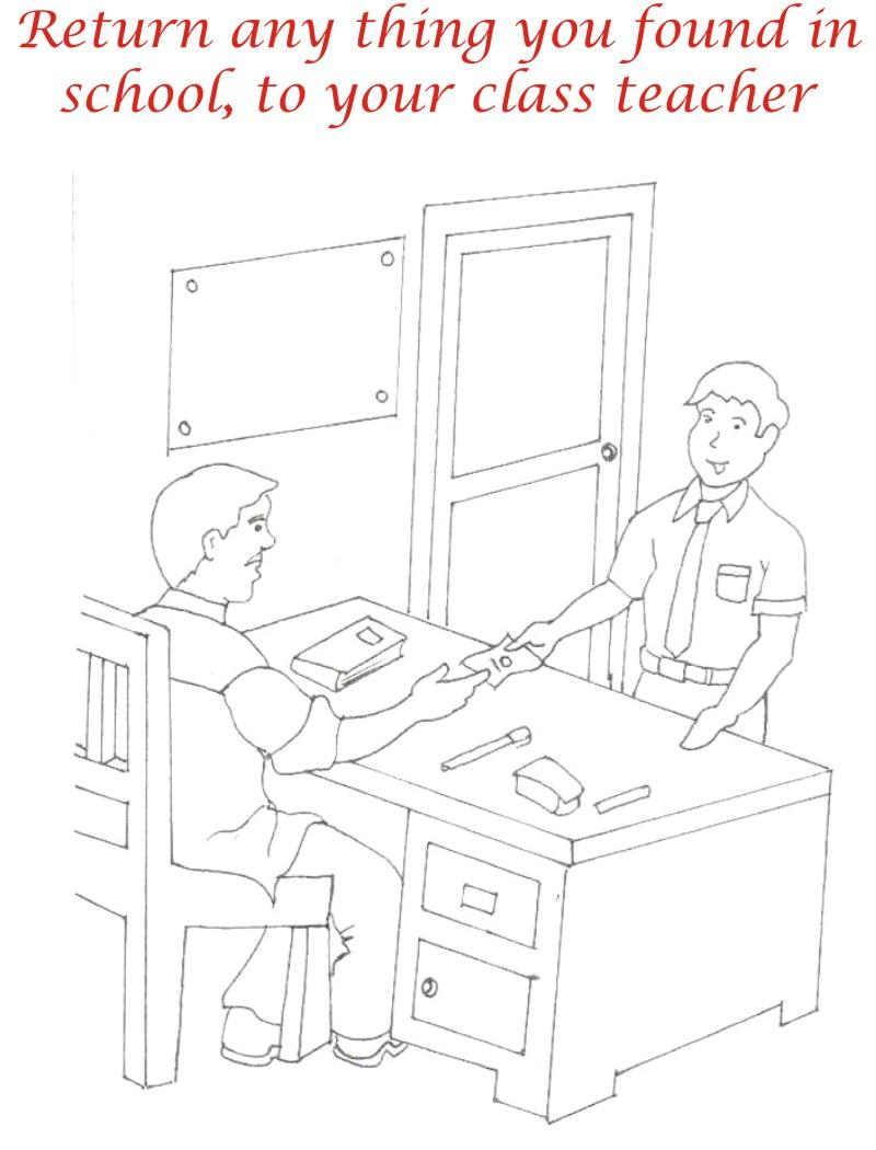 Good Manners Coloring Pages For Kids Coloring Pages of Good Manners