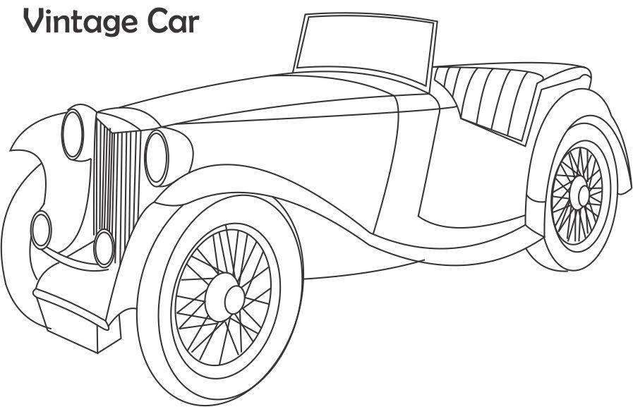 classic car coloring pages - photo#32