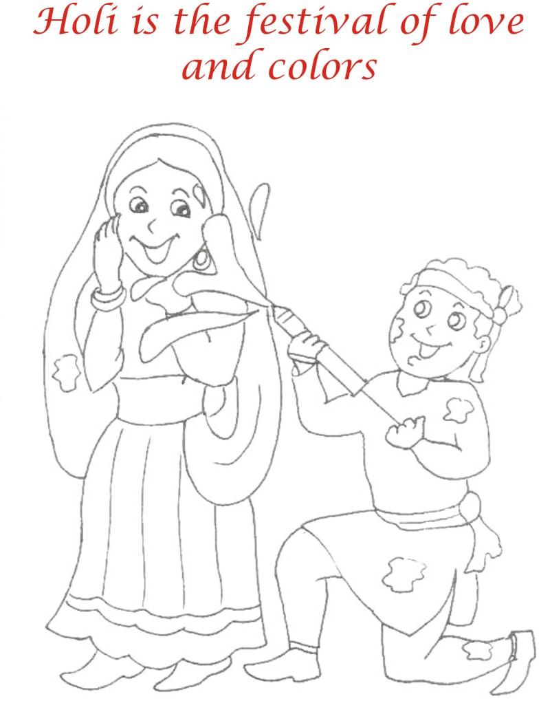 Adult Beauty Holi Coloring Pages Images top holi coloring pages sketch page view larger image images