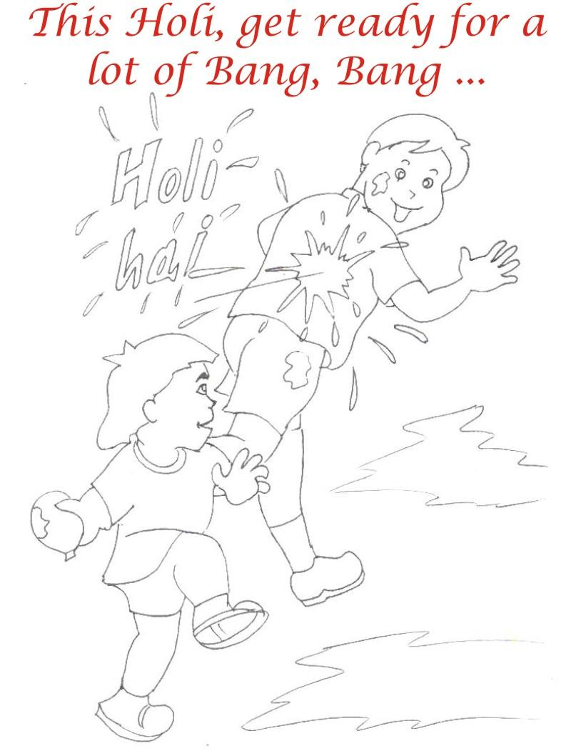 holi coloring pages more info