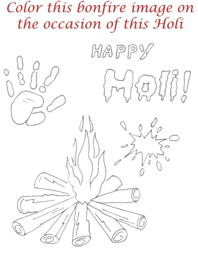 Holi coloring printable page for kids 27 Holi Pictures For Colouring