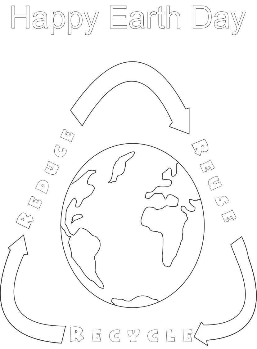 Free Reduce Reuse Recycle Coloring Pages - Bltidm