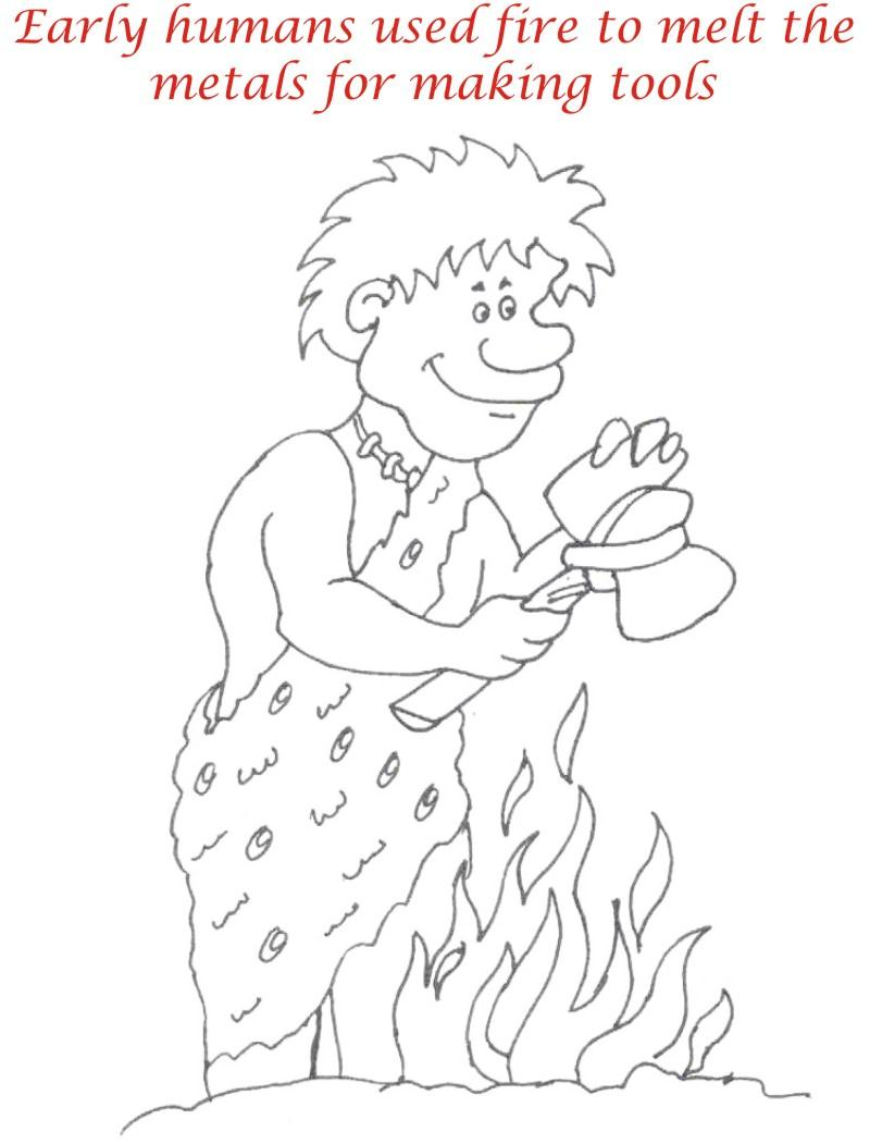 Early Humans Printable Coloring Page For Kids 8 Early HumansEarly Humans For Kids
