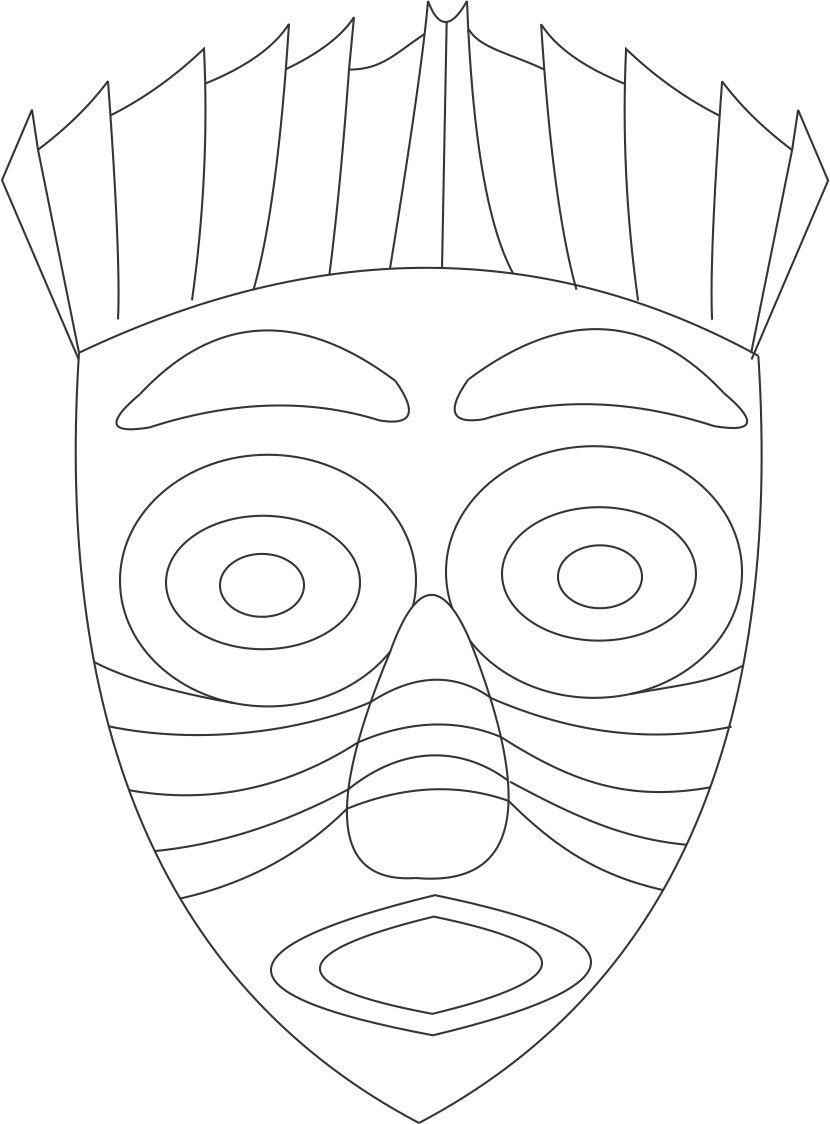 African American Drawing Face Coloring Pages