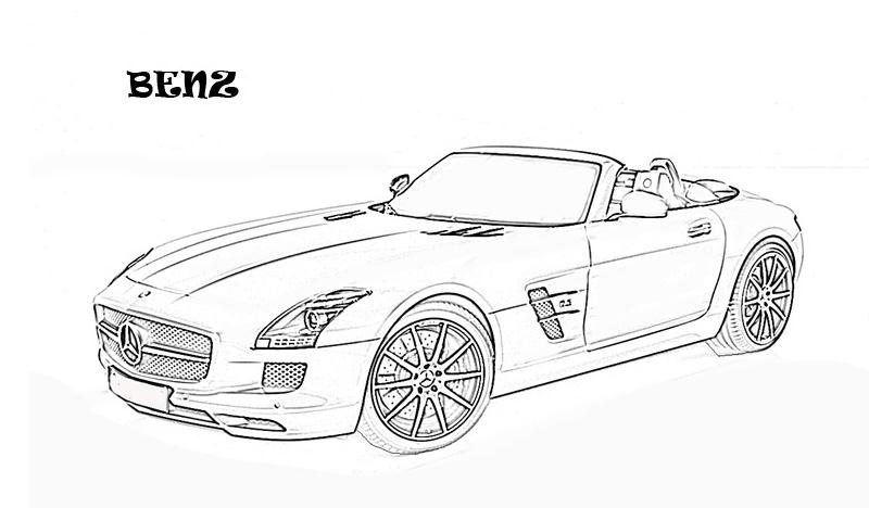 Exotic cars printable coloring page for kids 10 for Coloring pages mercedes