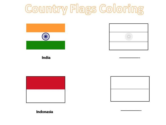 How To Draw Country Flags Country Flags Coloring Pages