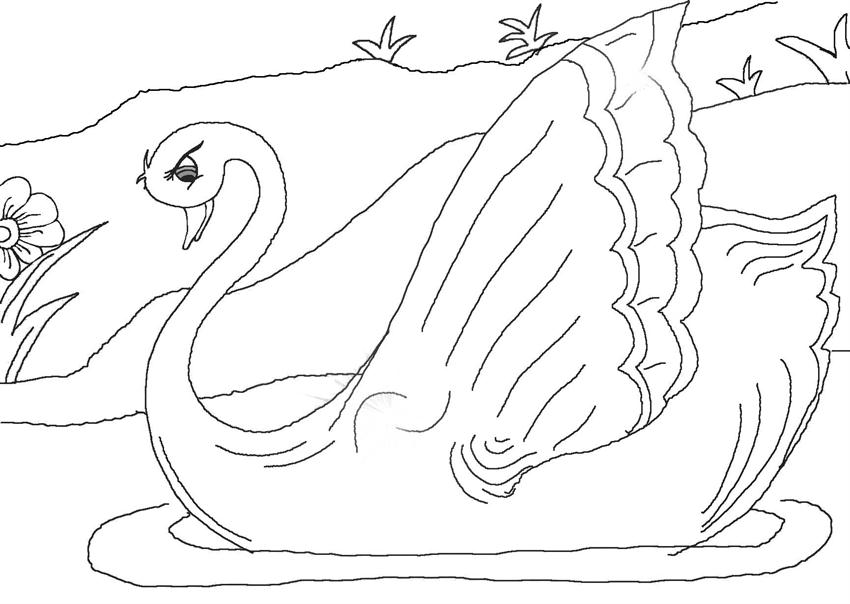 Free Coloring Pages For The Ugly Duckling